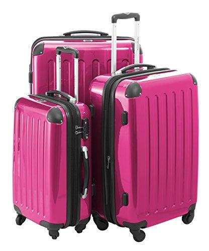 Trolley Hauptstadtkoffer 42, 74 & 119 Liter oder 3er Set in Magenta inkl. Kulturtasche von Reisenthel (3er Set mit TSA-Schloss)