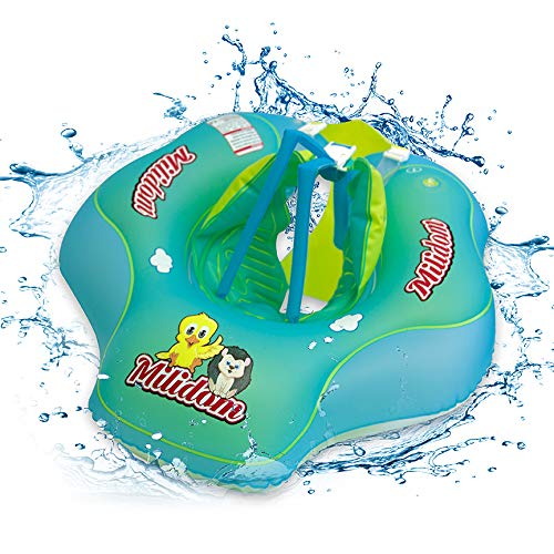 Milidom® Baby Schwimmtrainer I Mitwachsende Schwimmhilfe I Schwimmring, Schwimmsitz I Kinder ab 6 Monate bis 6 Jahre