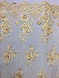 3D Spitze Stoff, 3D Blumen, Bridal, Wedding, 130cm breit,