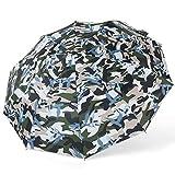 Dix Os Résistant Aux Intempéries Parapluie 30% Parapluie Automatique Pliant Parapluie Mâle Entreprise Solide Bois Camouflage Gentleman Parapluie Vert 62X105cm