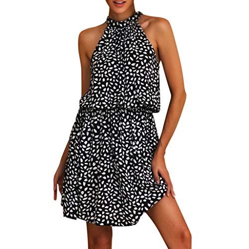 Darringls Vestiti Donna, Abito Eleganti Vestiti Lungo Estate Moda 2019 Vestito da Sera Cerimonia Maniche Corte Lunga Vestiti Boho Abito da Spiaggia Abiti Corto Camicie da Sera