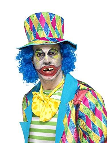 Halloween Kostüm Zubehör Zähne Psycho Horror Clown mit (Clown Kind Kostüm Psycho)