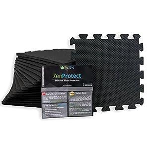 ZenProtect Schutzmatten Set mit 18 Puzzlematten mit je 30x30x1 cm | Premium...
