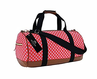Canvas Travel Holdall Duffel Weekend Overnight Wall Flower Print Bag QL6155M