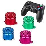 Sony Playstation 4 Dualshock 4 Controller Face Tasten Buttons Joystick Aluminium Metall Kugel Bauteile Ersatzteile Zubehör für PS4 (Bullet Color)