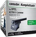 Rameder Komplettsatz, Dachträger SquareBar für Opel Astra H Caravan (116155-05145-2)