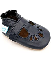 da54f333b3 Dotty Fish Soft Leather Baby Shoes. Non Slip Suede Sole. Classic Red