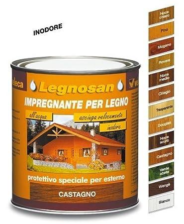 Veleca Legnosan, Impregnante per Legno, Noce Chiaro: Amazon.it ...