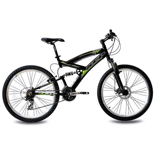 26 MOUNTAIN BIKE KCP ENERGY ALLOY 21 SPEED SHIMANO UNISEX BLACK   (26 INCH)