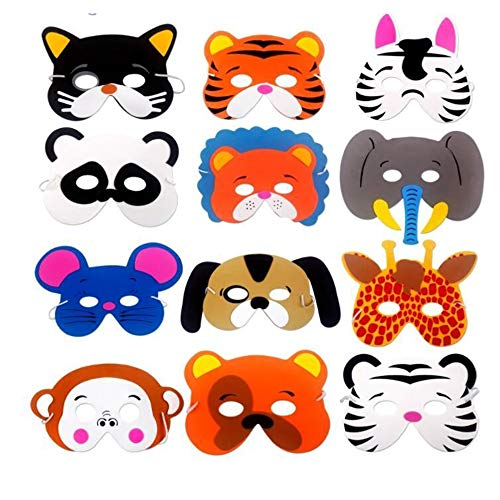 Fliyeong Premium 12 stücke Schaum Tiermasken Kinder Party Favor Kostüm - Childs Tiger Kostüm