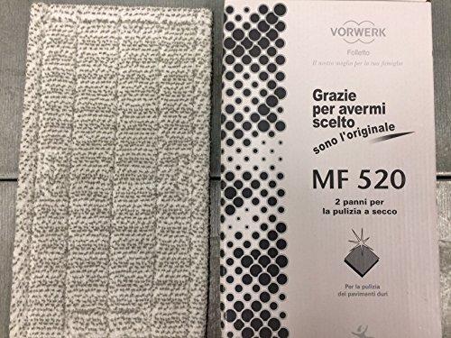 1 PANNO PULIZIA A SECCO MF520 DRY ORIGINALE VORWERK FOLLETTO PER LAVAPAVIMENTI SP520 SP530