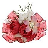 Baoblaze 1 Pieza Broche de Flores para Dama de Honor de Novia de Boda Hermosa - Rojo