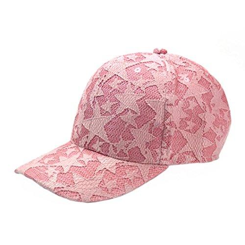 Rawdah Unisex Hombres Mujeres Gorra de béisbol deporte sol adjustable Hat (Rosa)