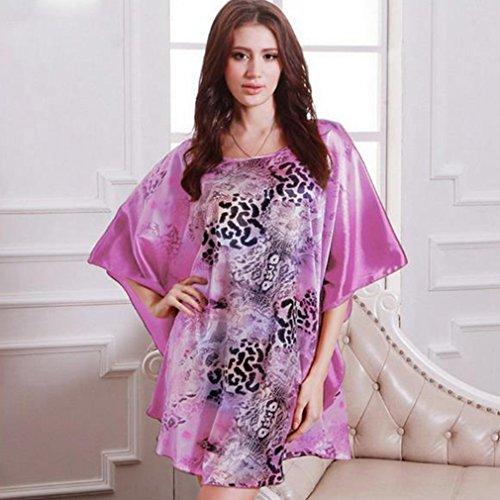 BOYANN Vestaglie e Kimono Manicotto di Batwing Pigiami e Camicie da Notte Donna Leopardo 1