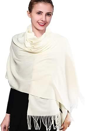 iEverest Inverno Sciarpa Pashmina Super Morbido Colore Solido Sciarpa per Uomini e Donne Inverno Caldo Grande Sciarpa di Spessore Avvolge Scialle Lungo Sciarpe 200*70cm
