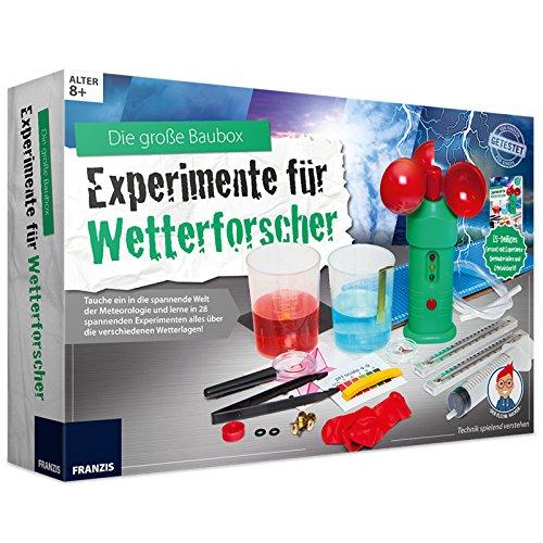Unbekannt Experimentier-Kasten für Wetterforscher Kristalle züchten, Wolken herstellen, Regen selber Machen UVM. • Meteorologie Lern Spiel Set Kinder Box Set