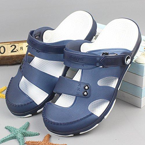 Xing Lin femmes Sandales Sandales dété pour homme épais inférieur anti glissant Baotou Sandales, Pantoufles, Pantoufles et chaussons bleu