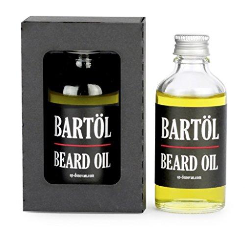 A.P. Donovan - Lusso olio di Bart in una bottiglia di vetro da 50 ml - fa la barba morbida ed elastica (trattamento dei capelli) 100% bio-olio
