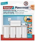 tesa Powerstrips Kabelclip / Kabel Clip selbstklebend / Zur Fixierung von Kabeln / In Weiß / 1 x 5 Stk.