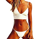 Frauen Bikini Push Up,Jaminy Damen Set Push-up Gepolsterten BH Beach Bikini Set Badeanzug Bademode (S)