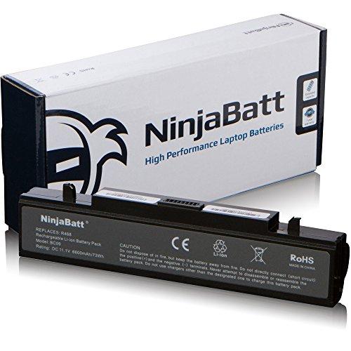 NinjaBatt 9 Celdas Batería de portátil de Samsung AA-PB9NC6B AA-PB9NS6B AA-PB9NC6W AA-PB9MC6W NP300E5A AA-PB9MC6B P410 AA-PB9NS6W R580 R540 NP300V5A R505 Q210 - Alto rendimiento [6600mAh/73wh]
