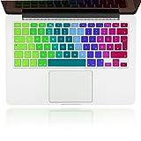 NALIA Protezione Tastiera in silicone unibody per APPLE MACBOOK Air/PRO/Pro Retina 13 'e 15' Keyboard Protector protettore Mac adesiva pellicola cover ultrasottile, Colore:Arcobaleno