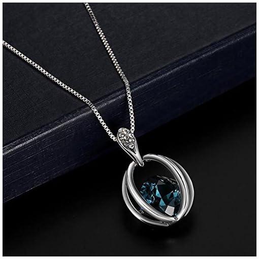20f954a0c4f8 Scrox Collar Pendientes Cristal de Diamante Elegante Joyas de Mujer Conjunto  de Cristal Colgante Collar + Pendientes