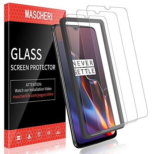 MASCHERI Schutzfolie für Oneplus 6T panzerglas, [3 Pack] Bildschirmschutzfolie [Ausgestattet mit einem Einbaurahmen] Bildschirmschutz Bildschirmschutzfolie Glas Folie für Oneplus 6T - Transparent