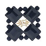 Kabelverbinder Abzweigdose Wasserdicht Erdkabel Schwarz, Aussen Feuchtraum Gartenbeleuchtung Kabel Verbindungsbox Verbindungsmuffe Erdkabel Wasserdicht Kabelmuffe Verbindungsdose 3 Polig
