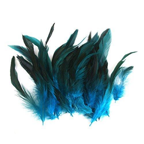dern Schwanzfedern Natur Hahnenfedern Deko DIY Kopfschmuck - Deep Blue (Diy Kostüme Für Mich)