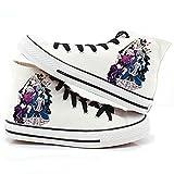 Black Butler Kuroshitsuji anime Ciel and Sebastian Cosplay scarpe scarpe di tela sneakers 4, Uomo, White