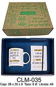 RM- Conjunto libreta mug con Mensaje,Esta Taza es para Que Sets de Material Escolar (1)