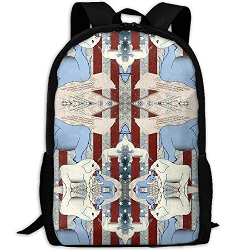 TRFashion Rucksack in Political News Unique Casual Backpack School Bag Travel Daypack Gift