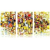 Tamatina Multi Piece Framed Paintings - Modern Art Paintings - Gallery Wrap Frame - Framed Canvas Paintings - Ready To Hang Paintings - Paintings For Living Room With Frame - Framed Paintings For Home - MF15