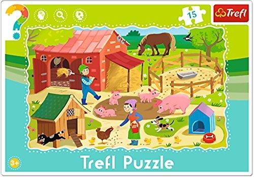 Trefl - Puzzle avec Cadre la Ferme 15 Pièces, 31216U
