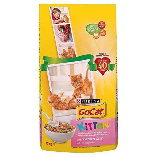 go-cat komplett Kätzchen bis zu 1Jahr mit Huhn, Karotten & Milch Nuggets 2kg (Pack von 6)