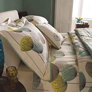 Sanderson Bedding, Dandelion Clocks Oxford Pillowcase, Aqua