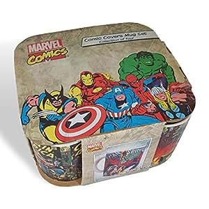 Marvel Set Of 4 Mugs, Iron Man, Captain America, The Hulk, Spider-Man