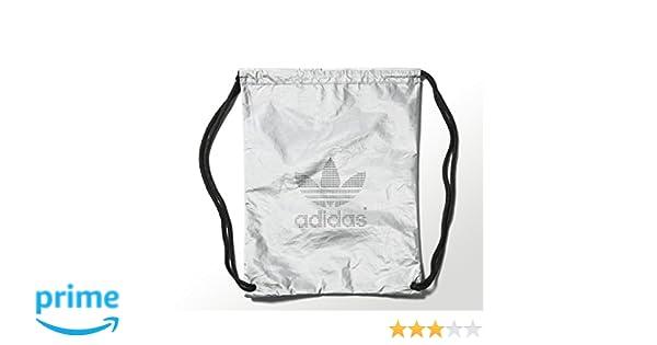 4aa6880325a Adidas Silver Metallic Gymsack Gym Bag Lightweight Backpack S20030. Colour  - Silver Metallic. Amazon ...