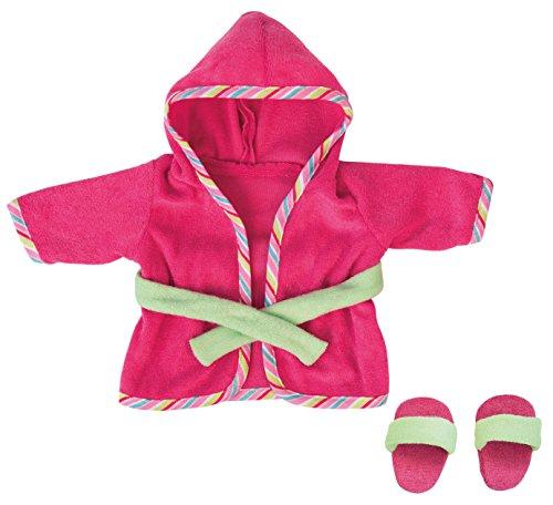 Bayer Design - Albornoz y chancletas para muñecas, color fucsia y verde (83872)