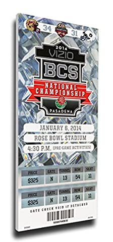 That's My Ticket 2014 BCS National Championship Game Commemorative Mega Ticket Wall Decor, Florida State Seminoles