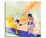 Escrime II 60x 60cm Décoration murale Sport image Aquarelle Art Couleurs de Paul Sinus...