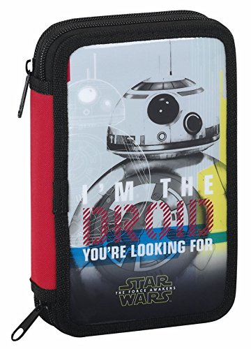 Safta Star Wars Estuches, 20 cm, Rojo