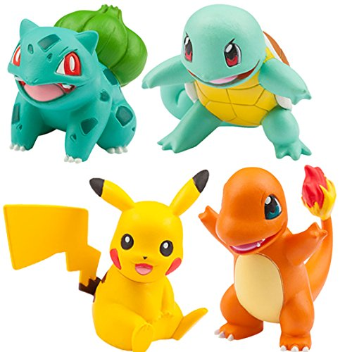 Pokemon Monster Collection EX 20th Anniversary 3 Pokemon of the Journey (Charmander, Squirtle, Bulbasaur) (Salamèche, Carapuce, Bulbizarre) + Pikachu Vol.1 The Kanto Region