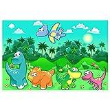 Topposter Poster für Kinderzimmer - Dinobabies im Regenwald (Poster in Gr. 60x90cm)