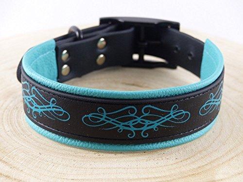 Hundehalsband Biothane Ornament Länge 31,5-37,5cm, Breite 25mm mit Dornschnalle (Hund Katze Ornamente)