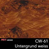 MST Wassertransferdruck Folie I Starter Set I WTD Folie + Dippdivator/Aktivator + Zubehör I 4 Meter I Wurzelholz Holz I Film CW-61