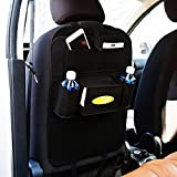 #1: Autofy Universal 7 Pocket Car Auto Seat Back Organizer Back Seat Organiser Mobile Pen Tissue Lunch Box Holder Multi Pocket Storage Hanger for All Cars (Black)