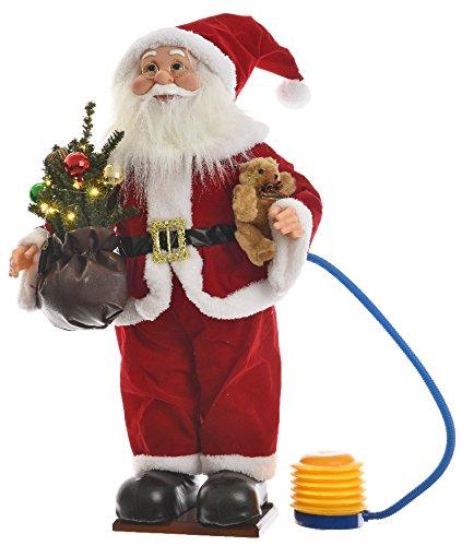 Papá Noel hinchable con árbol