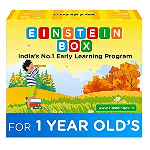 Einstein Box For 1 Year Old Baby Boys & Girls, Pretend Play Gift Pack of Learning and Educational Toys, Books & Games (1 Box Set)